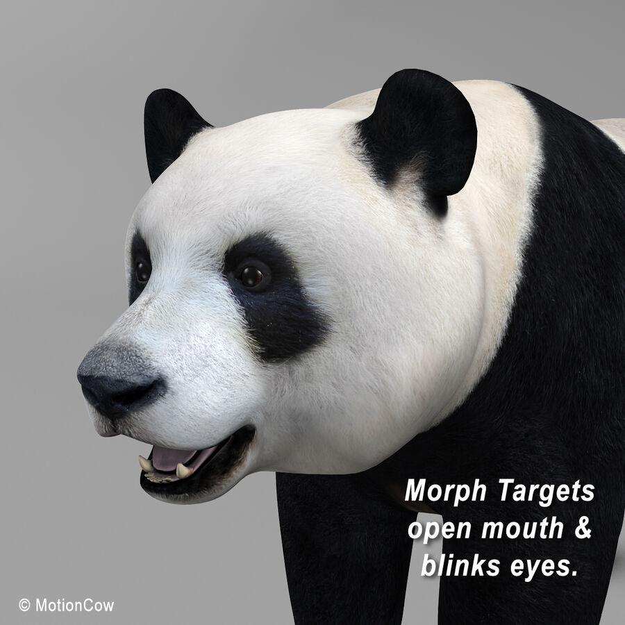 Urso panda royalty-free 3d model - Preview no. 8