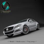 Estúdio Mercedes Benz CLS 2012 3d model