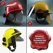 Firefighter Helmets Collection 3d model