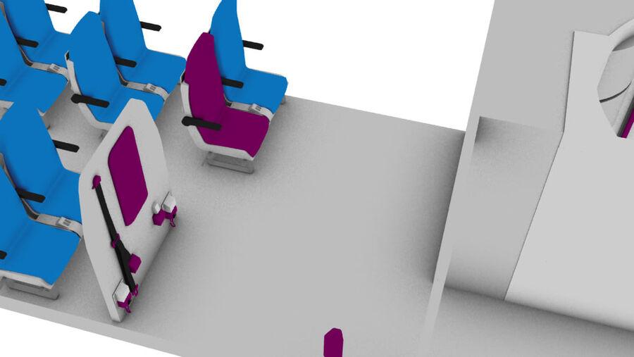 tågvagn interiör royalty-free 3d model - Preview no. 4