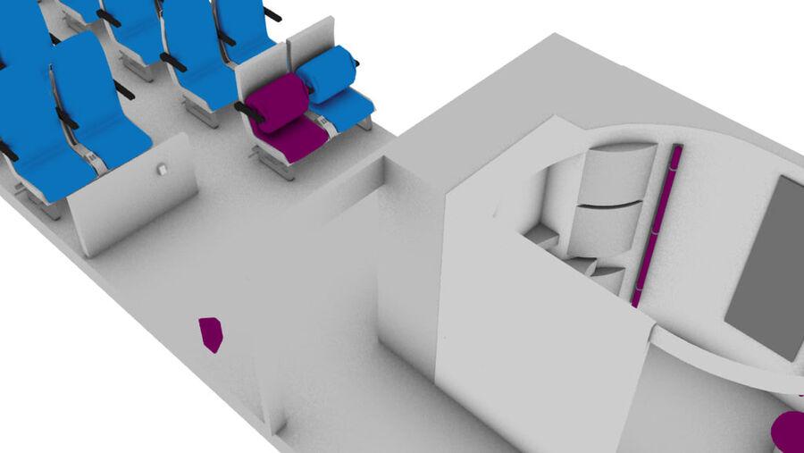 tågvagn interiör royalty-free 3d model - Preview no. 3