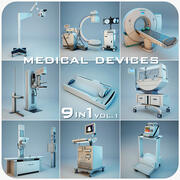 Medical Devices Collection 9 in 1 3d model