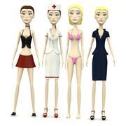 Cindy-4 kleren 3d model