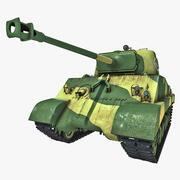 US World War II Medium Tank M4 Sherman 3d model