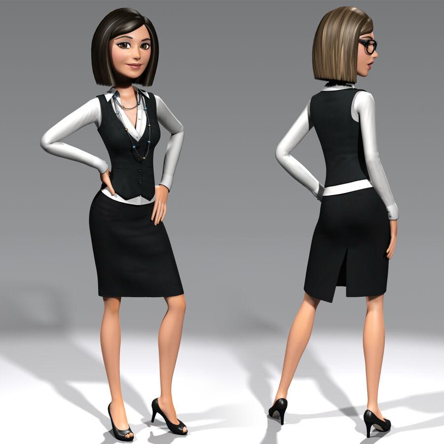 安吉-在办公室 royalty-free 3d model - Preview no. 3