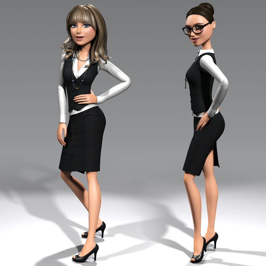 安吉-在办公室 royalty-free 3d model - Preview no. 4