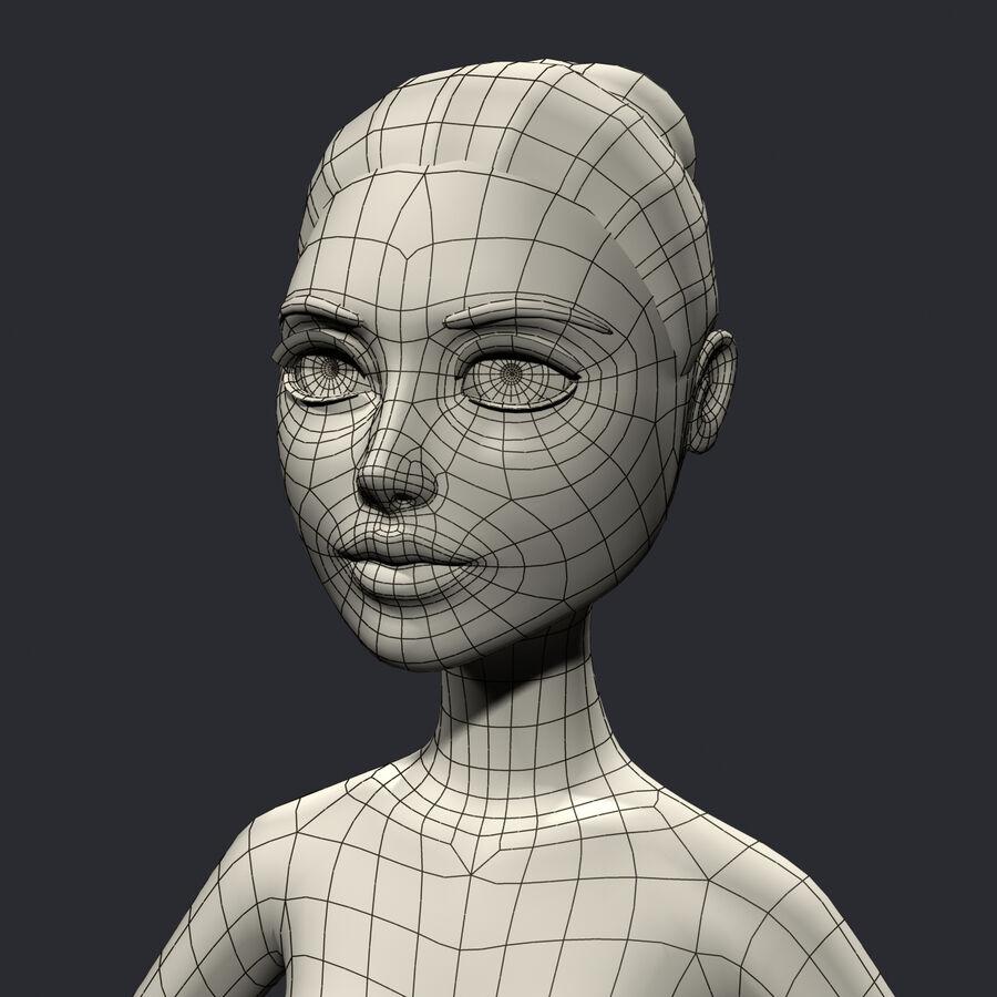 安吉-在办公室 royalty-free 3d model - Preview no. 17