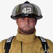Brandweerman Geen Rig 3d model