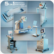Medical Devices Collection 5 in 1 vol.2 3d model
