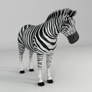Zebra Rigged 3d model