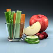 Frukt & grönsaker 3d model