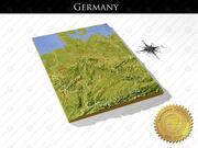 ドイツ、高解像度3Dレリーフマップ 3d model