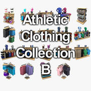 Athletic Clothing Collection B 3d model