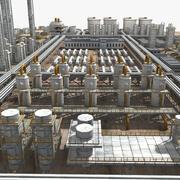 Impianto chimico 3d model