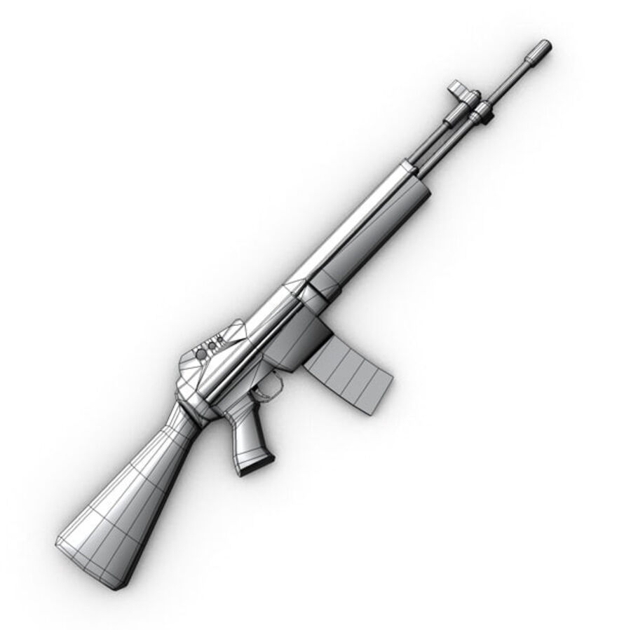 Modern Weapons Pack royalty-free 3d model - Preview no. 21