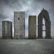 Destroyed Ruin Building 3d model