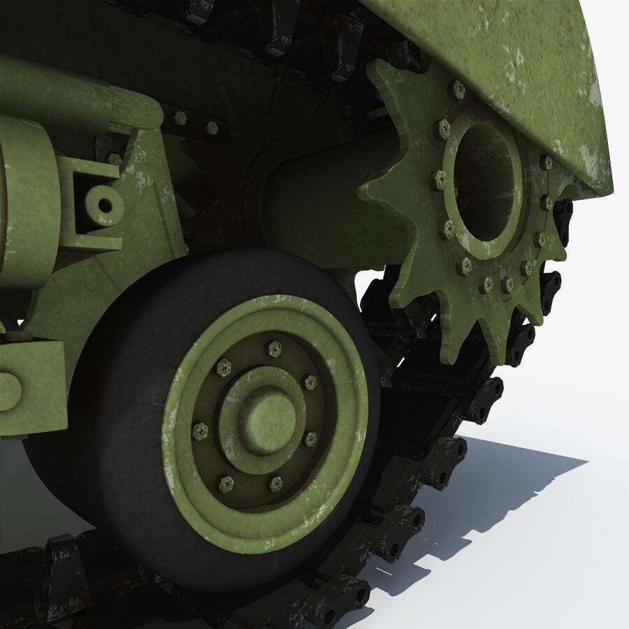 Carro armato medio americano M4 Sherman 2 della seconda guerra mondiale royalty-free 3d model - Preview no. 19