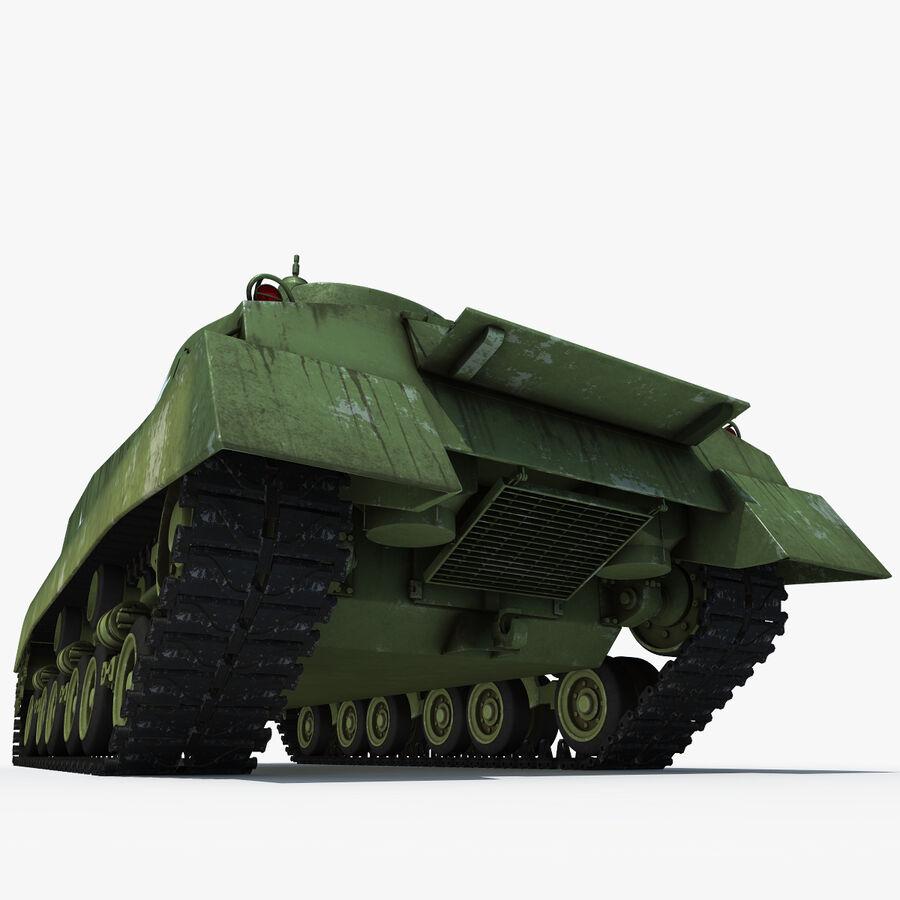 Carro armato medio americano M4 Sherman 2 della seconda guerra mondiale royalty-free 3d model - Preview no. 9