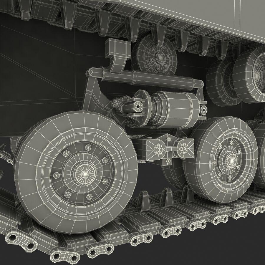 Carro armato medio americano M4 Sherman 2 della seconda guerra mondiale royalty-free 3d model - Preview no. 35