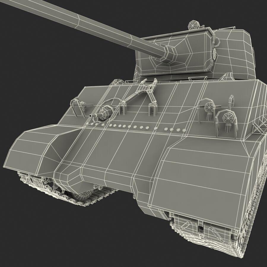 Carro armato medio americano M4 Sherman 2 della seconda guerra mondiale royalty-free 3d model - Preview no. 29