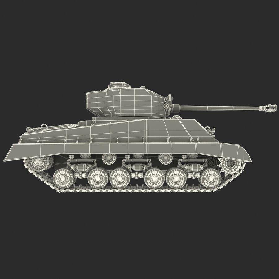 Carro armato medio americano M4 Sherman 2 della seconda guerra mondiale royalty-free 3d model - Preview no. 23