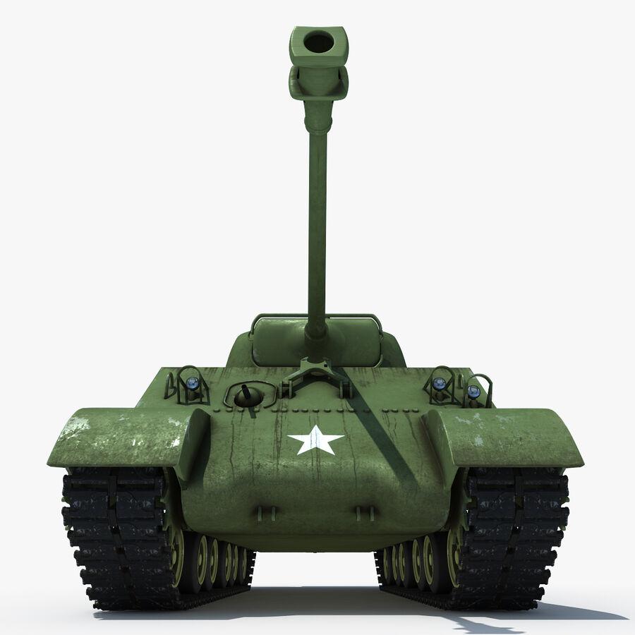 Carro armato medio americano M4 Sherman 2 della seconda guerra mondiale royalty-free 3d model - Preview no. 4