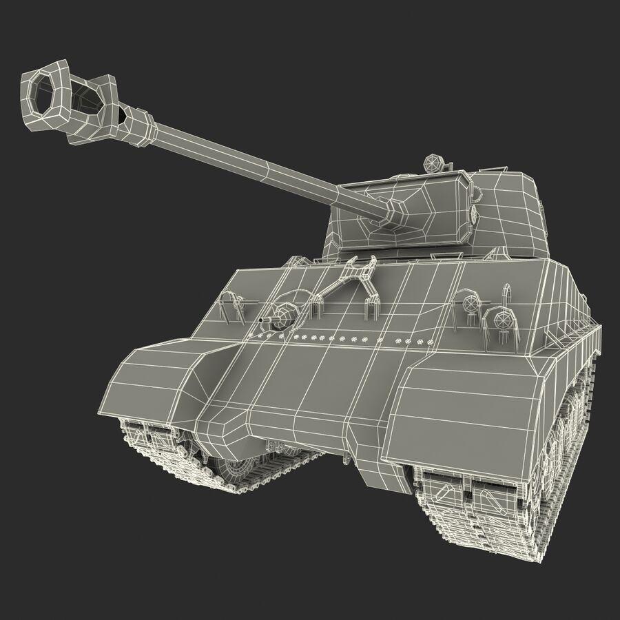 Carro armato medio americano M4 Sherman 2 della seconda guerra mondiale royalty-free 3d model - Preview no. 21
