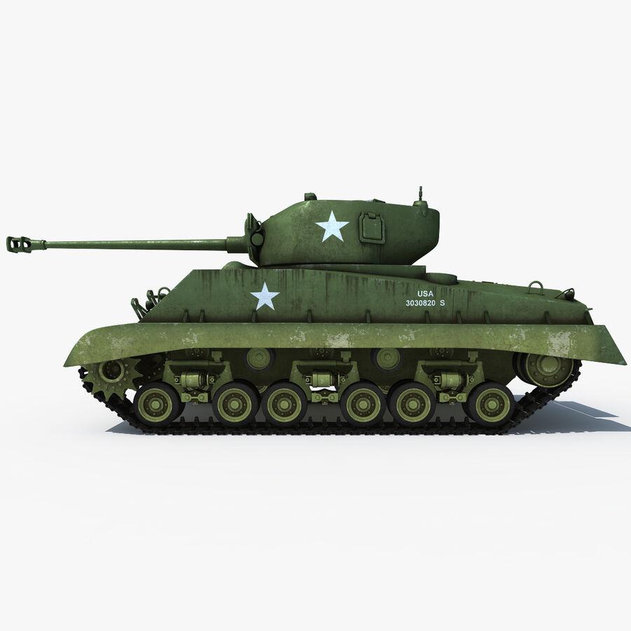 Carro armato medio americano M4 Sherman 2 della seconda guerra mondiale royalty-free 3d model - Preview no. 6
