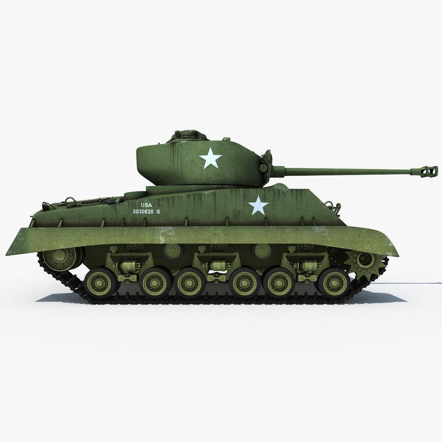 Carro armato medio americano M4 Sherman 2 della seconda guerra mondiale royalty-free 3d model - Preview no. 5