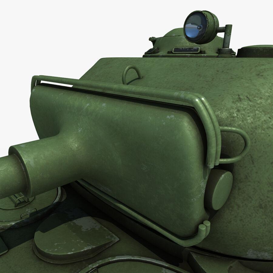 Carro armato medio americano M4 Sherman 2 della seconda guerra mondiale royalty-free 3d model - Preview no. 12