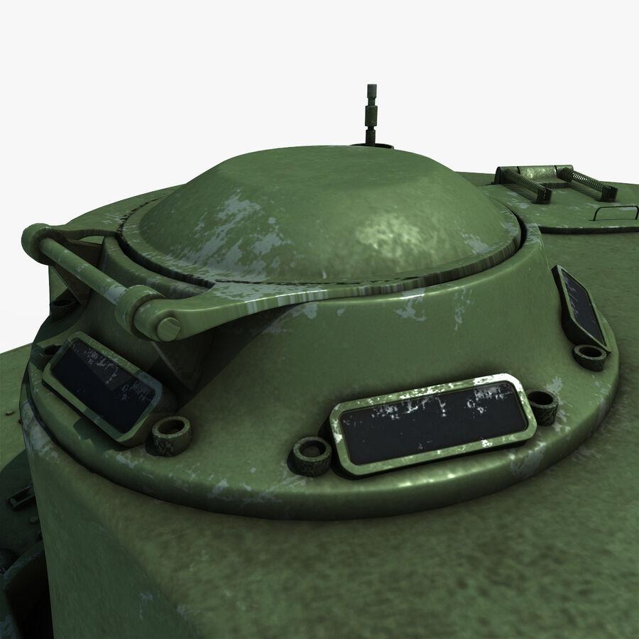 Carro armato medio americano M4 Sherman 2 della seconda guerra mondiale royalty-free 3d model - Preview no. 14