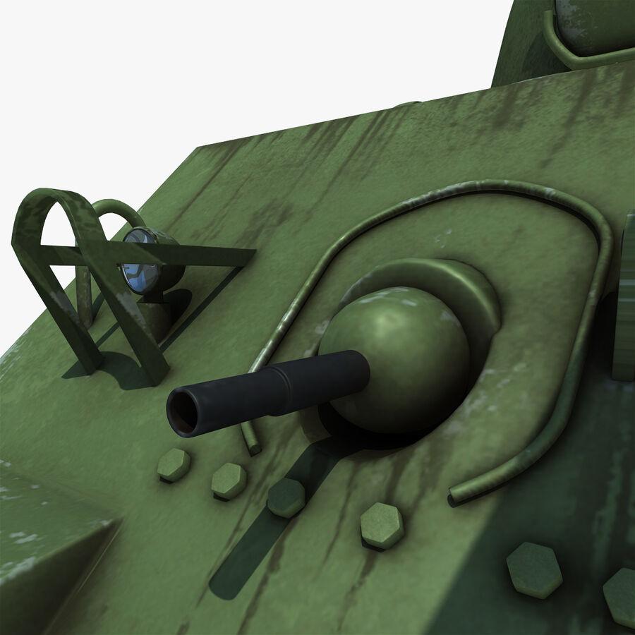 Carro armato medio americano M4 Sherman 2 della seconda guerra mondiale royalty-free 3d model - Preview no. 13