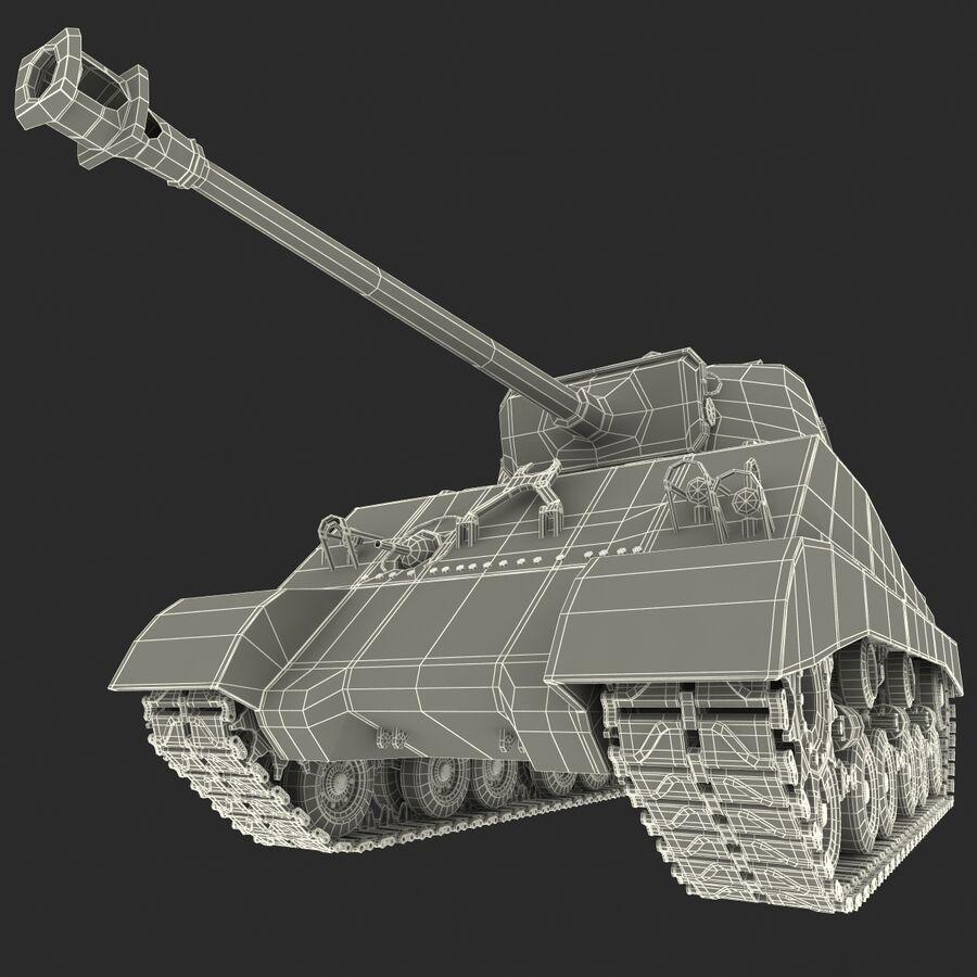 Carro armato medio americano M4 Sherman 2 della seconda guerra mondiale royalty-free 3d model - Preview no. 28