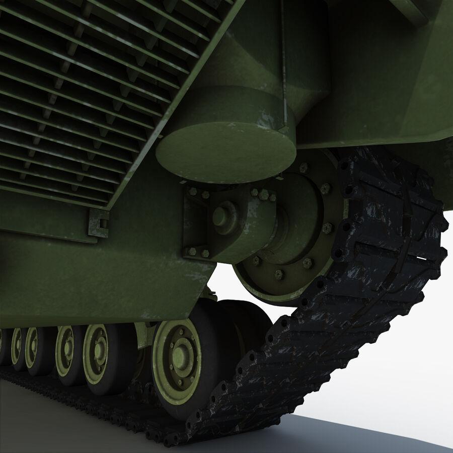 Carro armato medio americano M4 Sherman 2 della seconda guerra mondiale royalty-free 3d model - Preview no. 18