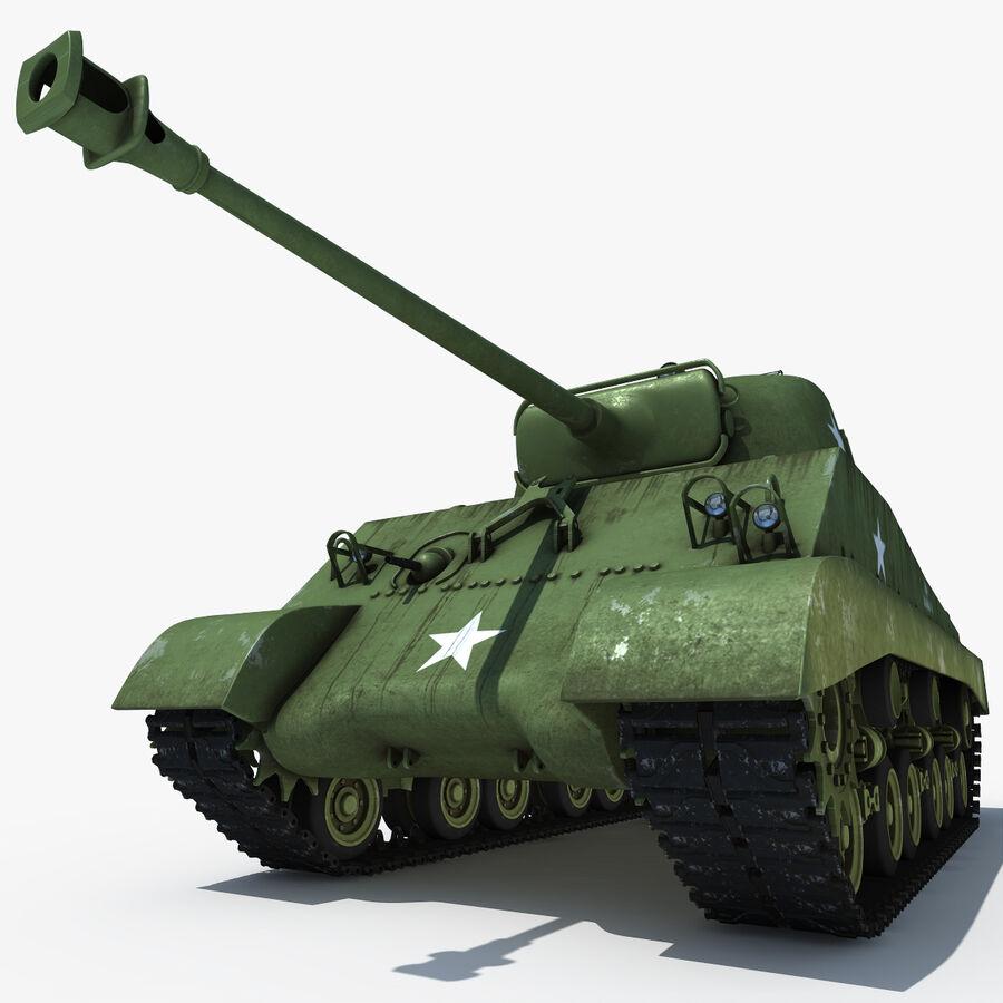 Carro armato medio americano M4 Sherman 2 della seconda guerra mondiale royalty-free 3d model - Preview no. 10