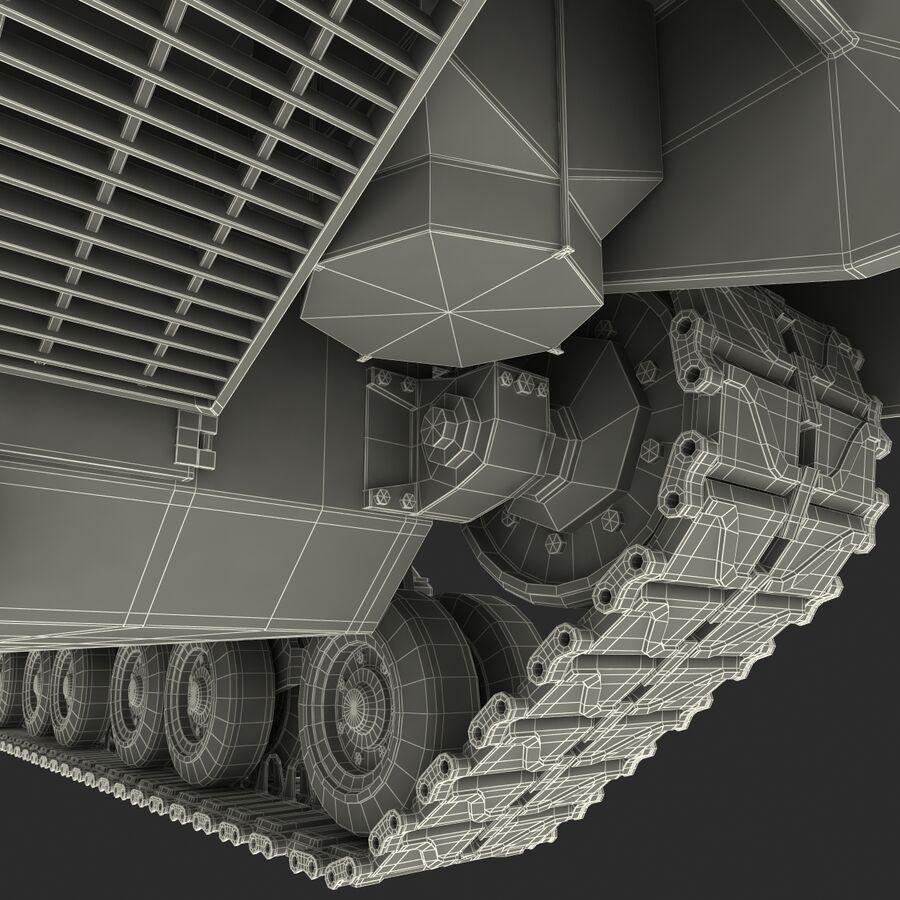 Carro armato medio americano M4 Sherman 2 della seconda guerra mondiale royalty-free 3d model - Preview no. 36