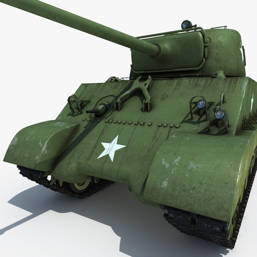 Carro armato medio americano M4 Sherman 2 della seconda guerra mondiale royalty-free 3d model - Preview no. 11