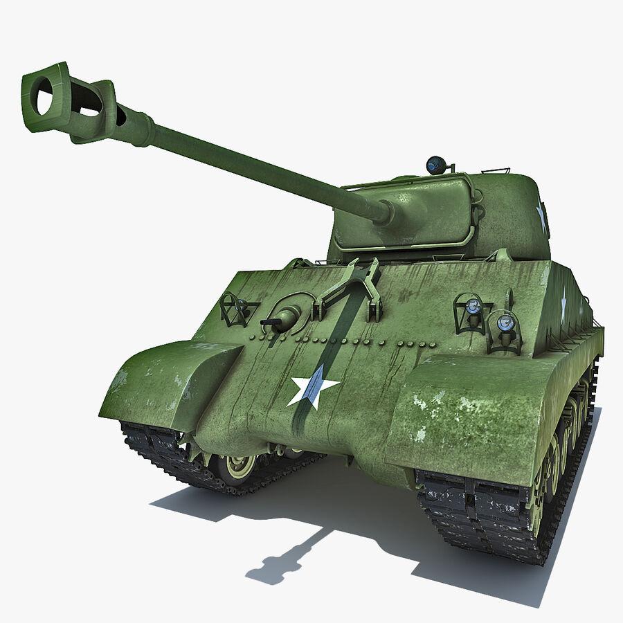 Carro armato medio americano M4 Sherman 2 della seconda guerra mondiale royalty-free 3d model - Preview no. 1