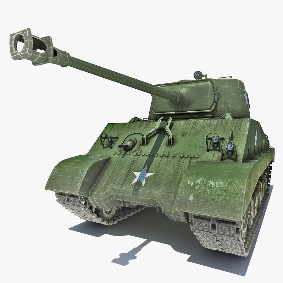 Carro armato medio americano M4 Sherman 2 della seconda guerra mondiale royalty-free 3d model - Preview no. 3