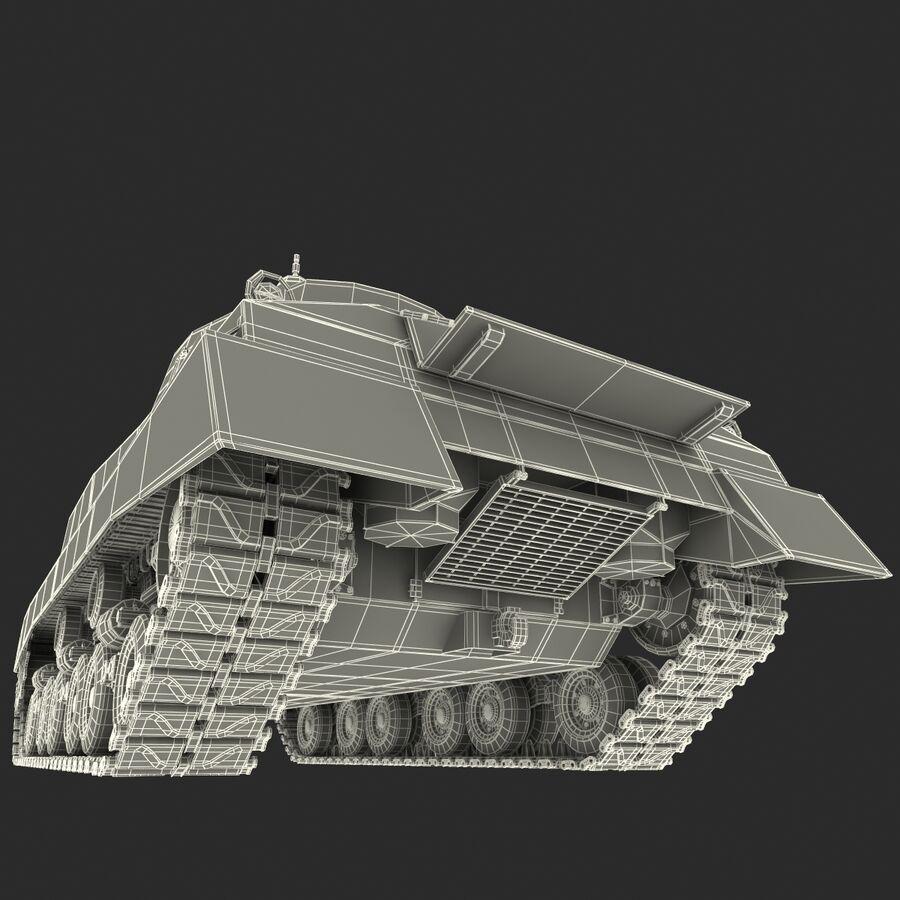 Carro armato medio americano M4 Sherman 2 della seconda guerra mondiale royalty-free 3d model - Preview no. 27