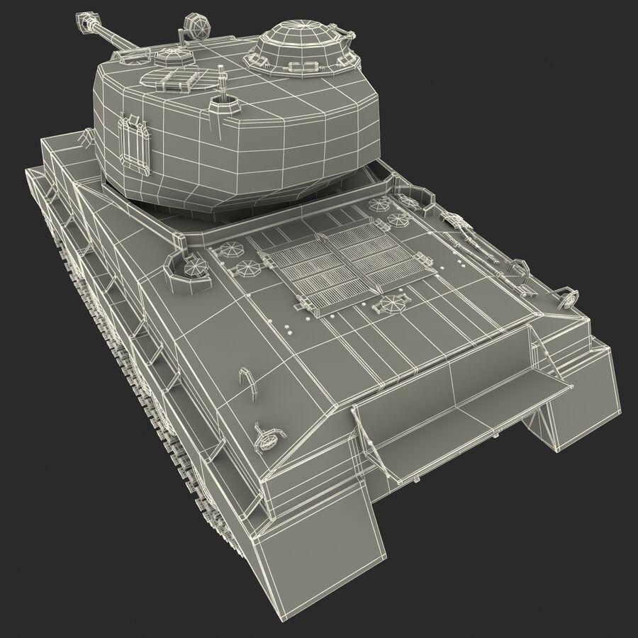 Carro armato medio americano M4 Sherman 2 della seconda guerra mondiale royalty-free 3d model - Preview no. 26