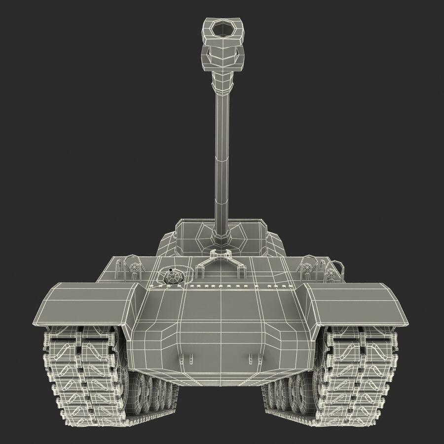Carro armato medio americano M4 Sherman 2 della seconda guerra mondiale royalty-free 3d model - Preview no. 22