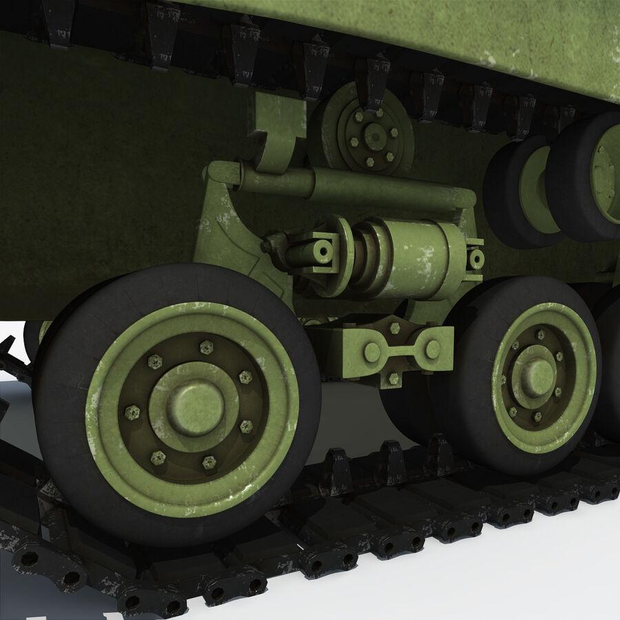 Carro armato medio americano M4 Sherman 2 della seconda guerra mondiale royalty-free 3d model - Preview no. 17
