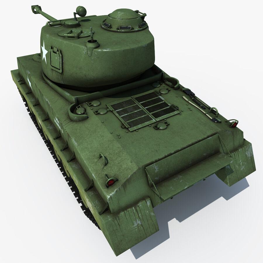 Carro armato medio americano M4 Sherman 2 della seconda guerra mondiale royalty-free 3d model - Preview no. 8