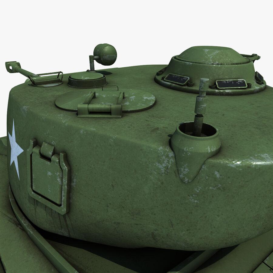 Carro armato medio americano M4 Sherman 2 della seconda guerra mondiale royalty-free 3d model - Preview no. 15