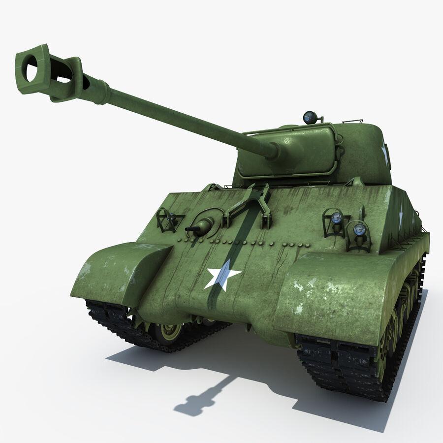 Carro armato medio americano M4 Sherman 2 della seconda guerra mondiale royalty-free 3d model - Preview no. 2