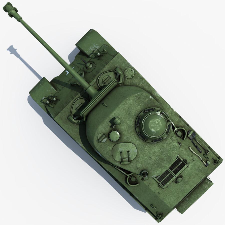 Carro armato medio americano M4 Sherman 2 della seconda guerra mondiale royalty-free 3d model - Preview no. 7