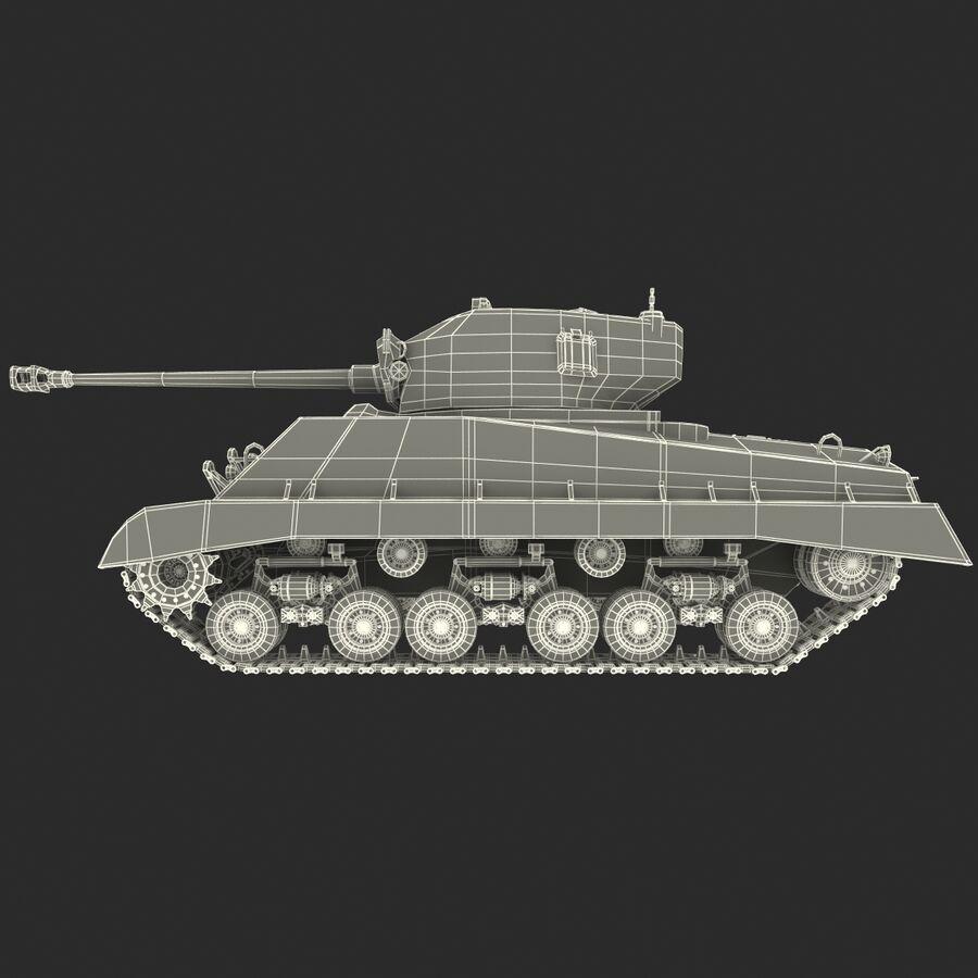 Carro armato medio americano M4 Sherman 2 della seconda guerra mondiale royalty-free 3d model - Preview no. 24