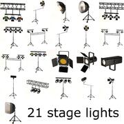 podiumverlichting grote set 3d model
