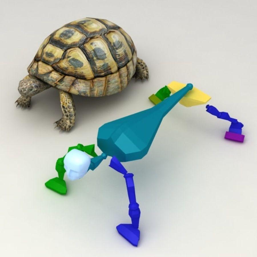 Черепаха сфальсифицирована royalty-free 3d model - Preview no. 11